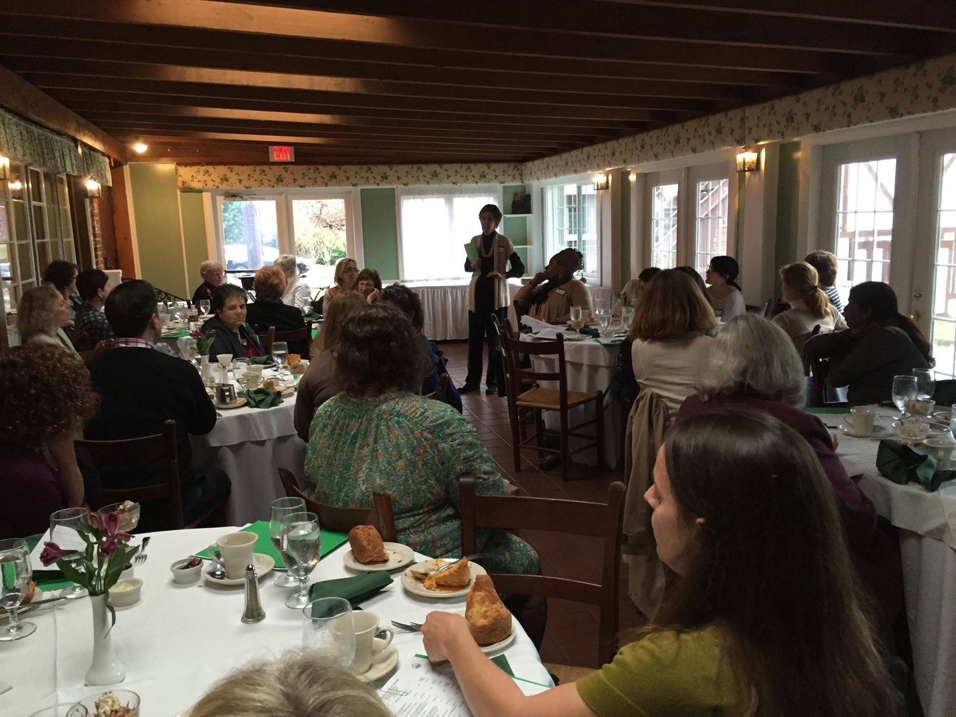 "Margot Aronson speaking at the Fall 2015 Legislative and Advocacy Program's luncheon ""Everything You Always Wanted To Know About Legislation and Advocacy But Were Afraid To Ask"""